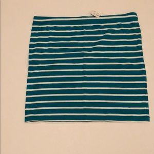 Forever 21 Strippes tube skirt size L
